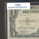 1935 = $1.00 = SILVER certificate