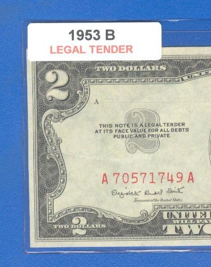 1953b $2.00 Red Seal .... A70571749A