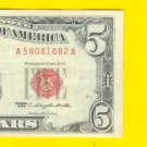 1963 $5.00 Red Seal ........