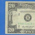 """1950b """" B """" STAR $20.00 FRN"""