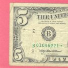 "1995 "" STAR "" $5.00 FRN "" B "" district"
