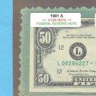 """== Series Key == 1981a """" L """" star $50.00 = L00284227*"""