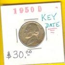 * KEY DATE * 1950-D   5 cent