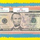 """== Series Key == 2006 """" L  """" star note $5.00 FRN  IL00030621*"""