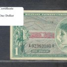 Series 651 ~~ $1.00 ~~~ Military Payment Certificate