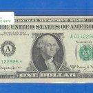"""1963a """" A  """" STAR $1.00 FRN = A01122986*"""