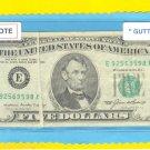 Gutter Fold = ERROR = $5.00 FRN  Serial # E92569598A