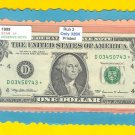 "== Series Key == 1999 "" D "" star note $1.00 = D03450743*"