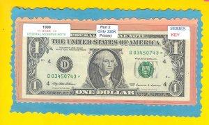 """== Series Key == 1999 """" D """" star note $1.00 = D03450743*"""