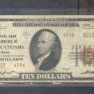 "1929 $10.00 National  "" San Antonio, TX """
