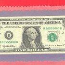 FANCY # ~~B 66 555 000 B $1.00 FRN