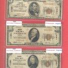 Portsmouth, VA  Series 1929 Denom Set $5, $10, $20