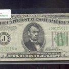 """1934   """" J """"  STAR $5.00 FRN  J00125818* MULE  BP#1391"""