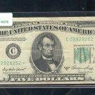 """1950A  """" C """"  STAR $5.00 FRN  C02928252*"""