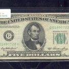 "1950A  "" G ""  STAR $5.00 FRN  G01890722*"