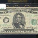 """1950A  """" L """"  STAR $5.00 FRN  L03555744*"""