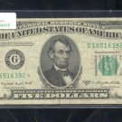 "1950C  "" G ""  STAR $5.00 FRN  G16516392*"