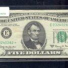 "1963A  "" E ""  STAR $5.00 FRN  E03240282*"