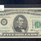 "1963A  "" G ""  STAR $5.00 FRN  G07225843*"