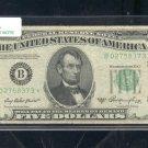 """1950A  """" B """"  STAR $5.00 FRN  B02758373*"""