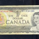 1973  ==  CANADA  ==  ONE DOLLAR =  AFL5181285