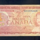 1974  ==  CANADA  ==  TWO DOLLAR =  AGC2592628