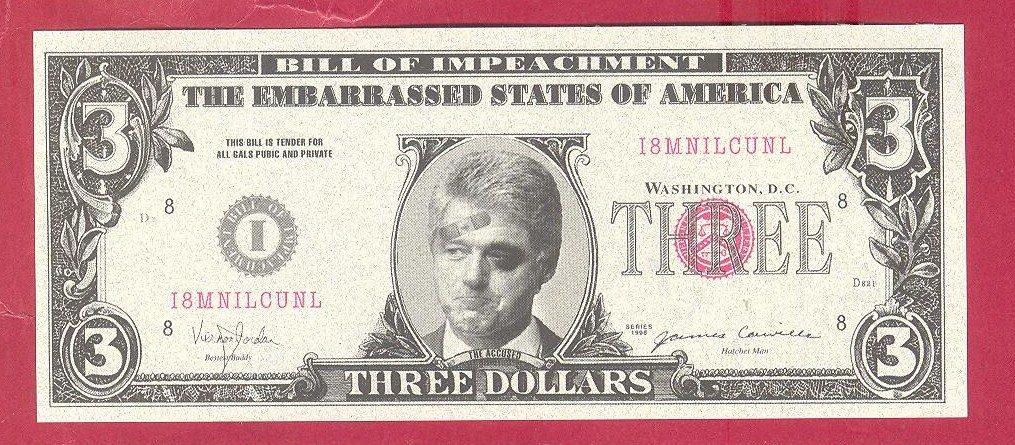 three dollars novelty note i8mnilcunl