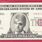 THREE dollars = Novelty note I8MNILCUNL