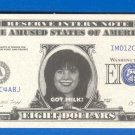 8 dollars = Novelty note = IMD12C4ABJ