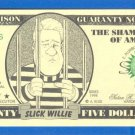 25 dollars = Novelty note =  25LIF4SXLIES