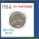 1982 NO mintmark = ERROR = better date