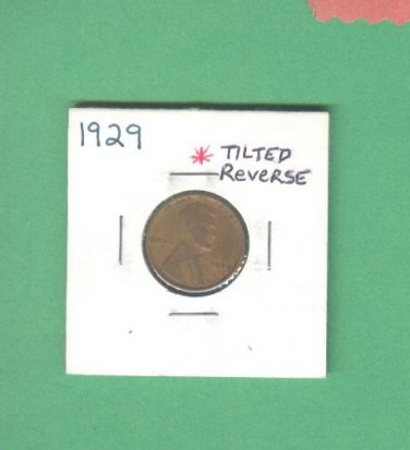 Tilted reverse = 1929 = 1 cent