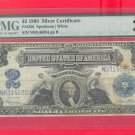 1899 $2.00 SILVER certificate = PMG VF20 N83146354