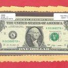 """~ 2009 ~ $1.00 """" K """" == STAR = = 640K printed == K00388579*"""