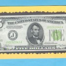 "1934 "" J ""  LGS  $5.00 J00292043A ~ Light Green Seal ~"
