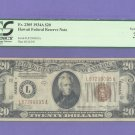 ~ Hawaii ~  $20 == Emergency Issue ==  L87299095A  PCGS VF35
