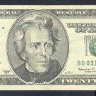 """1999 """" G """" STAR $20.00 BG03185966*"""