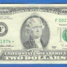 """1995 """" F """" STAR $2.00  = F00291974* Run 1"""