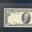 1981 $10 ERROR ~~ OVERPRINT ON BACK E73537063A