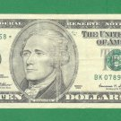 "1999 "" K "" STAR $10.00 FRN BK07895368*"