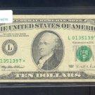 """1995 """" L """" STAR $10.00 FRN = L01351397*"""
