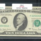 """1977A """" F """" STAR $10.00 FRN F02503446*"""