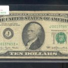 "1977 "" J "" STAR $10.00 FRN = J00157857*"