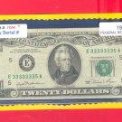 """ 7 in a ROW "" ~~~~ 3333333  5 == Fancy # old style $20"
