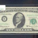 "1963A "" E "" STAR $10.00 FRN E03371259*"
