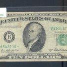 """1950B """" B """" STAR $10.00 FRN B26542730*"""