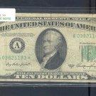 """1950A """" A """" STAR $10.00 FRN A03821183*"""