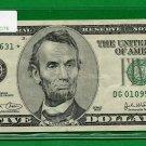 "2003  "" G "" STAR $5.00 FRN = DG01095631*"