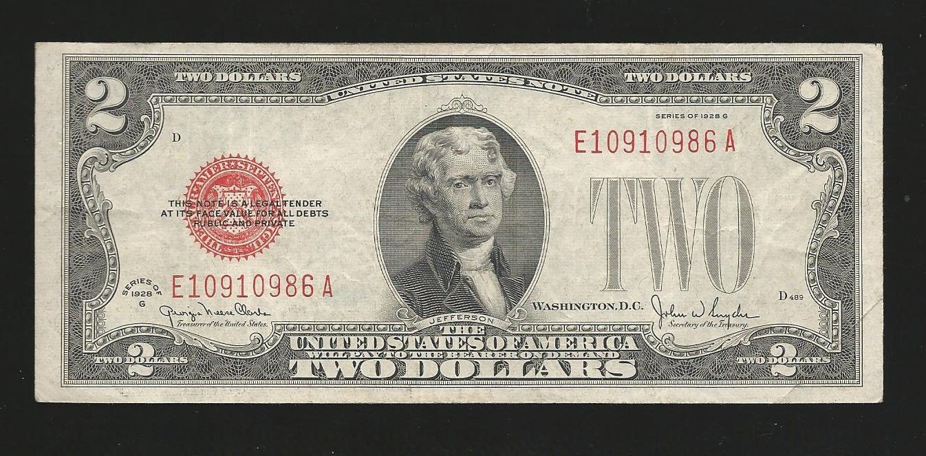 1928g $2.00 Red Seal .... E10910986A