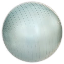 NEW 55cm PEARL WHITE EXERCISE FITNESS YOGA PILATES SWISS GYM WORKOUT BODY BALL